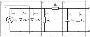 Еквівалентні схеми заміщення сонячного елементу